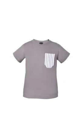 T-shirt dla dzieci zkieszonką w paski
