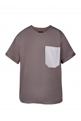 Tshirt męski z kieszonką w paski
